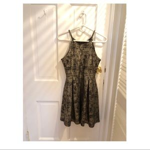 Soprano Black and Gold Halter Dress Size Medium